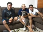 """From left to right, old friends Robson, Gustavo Dantas and Vitor """"Shaolin"""" / Photo: personal archives of GustavoDantas"""